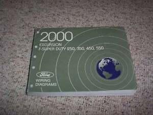 2000 Ford F 250 Super Duty Electrical Wiring Diagram Manual Xl Xlt 7 3l Diesel Ebay
