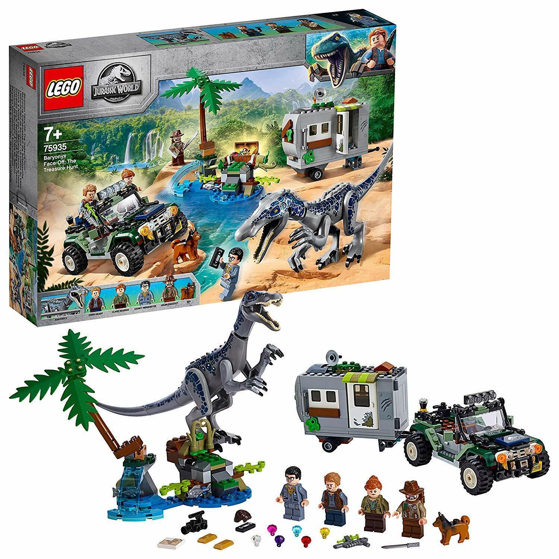 Lego 75935 Jurassic World Baryonyx Cochea de la búsqueda del tesoro construcción Jugarset