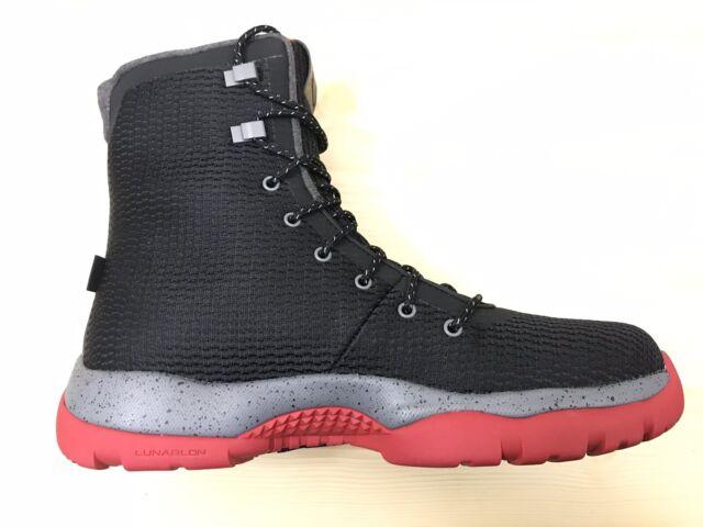 f61eed32ff45dc Nike Air Jordan Future Boot Black Gym Red CoolGrey 854554-001 Waterproof Sz  13
