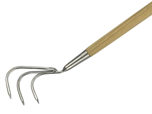 """KENT AND STOWE STAINLESS STEEL LONG HANDLED 3 PRONG CULTIVATOR 160CM / 63"""""""