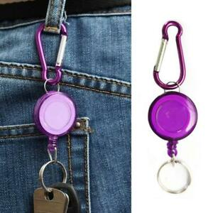 Telescopic-Keychain-Retractable-Badge-Reel-Recoil-Carabiner-Id-Ski-Pass-Holder