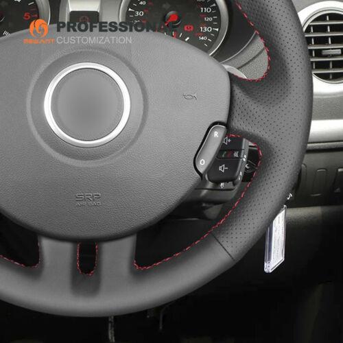 DIY Custom Black leather Steering Wheel Cover for Renault Clio 3 2005-2013 2010
