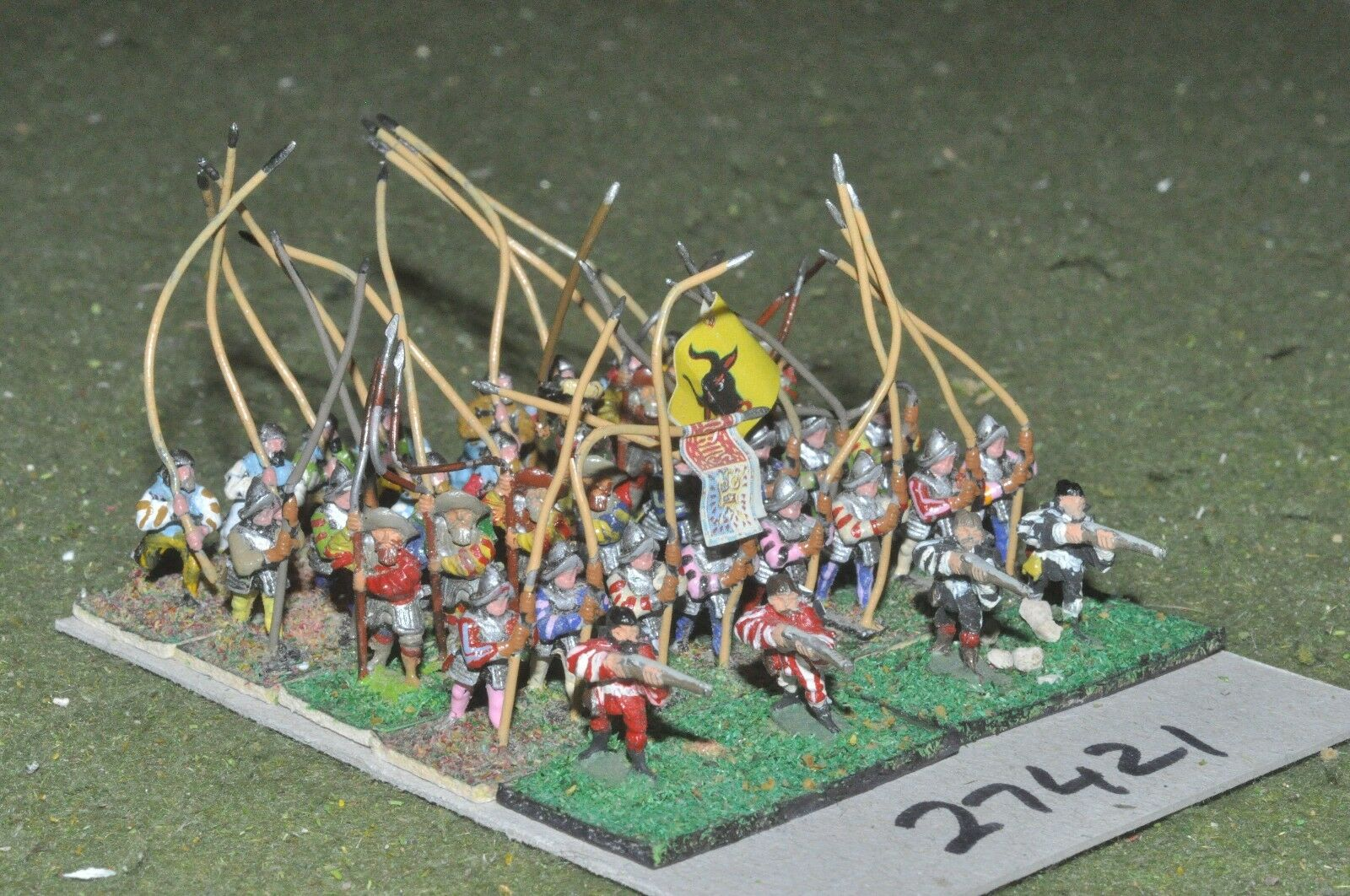 15mm renaissance   german - pikemen 36 figures - inf (27421)