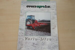 158301) Evers Agro Vario Disc Prospectus 200?-afficher Le Titre D'origine Performance Fiable