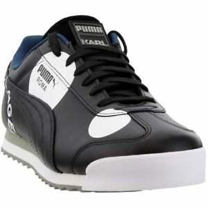 Puma-Roma-Polkadot-Sneakers-Casual-Black-Mens