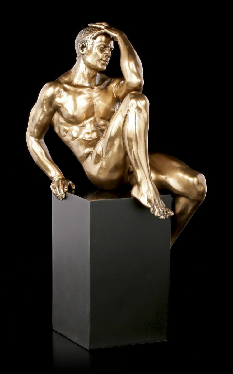 Manly Naked Statue - - - on Monolith Sitting - Veronese Men Naked Statue 0c75bd