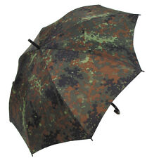MFH BW Regenschirm mit Hakengriff Flecktarn Regen-Schirm Durchmesser 105cm
