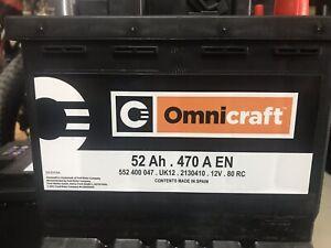BATTERIA-AUTO-ORIGINALE-FORD-OMNICRAFT-52-AMP-470-AMPRE-SPUNTO