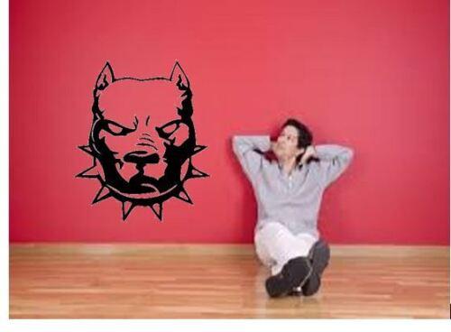 Staffy Pitbull Spike dog Car lounge kitchen Vinyl wall art Decal Sticker