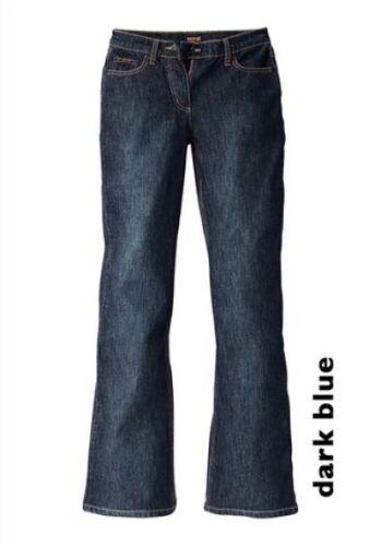 H.I.S Jeans Lina nouveau court taille 17-18 Femmes DENIM BOOTCUT Dark Blue pantalon stretch