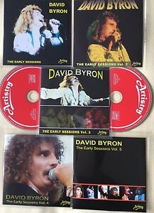 DAVID-BYRON-ex-URIAH-HEEP-AVENUE-RECORDS-EARLY-SESSIONS-Volumes-1-5-NEW-DISCS