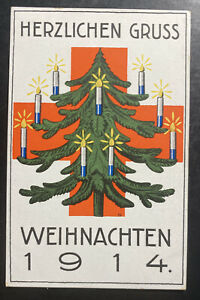 Mint Germany PPC Picture Postcard Christmas Greetings  Red Cross 1914