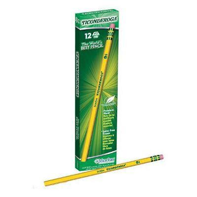 Dixon Ticonderoga Wood-Cased Pencils #2 HB Yellow  Box of 12