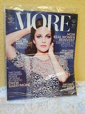 MORE MAGAZINE FEBRUARY 2015 DREW BARRYMORE NEW SEALED IN BAG HOW REAL WOMEN REIN