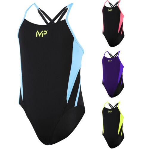 Aqua Sphere Michael Phelps TINA Girls Swim Suit Costume Aqua Ages 6-14 Years