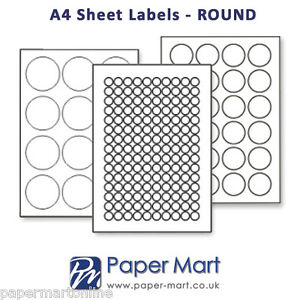 Round oval labels on a4 sheets labels stickers for for Circle printer labels