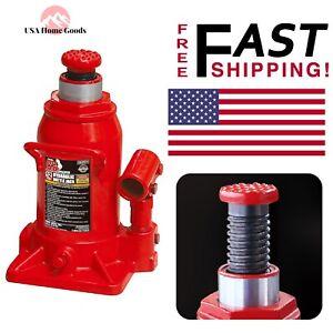 Details about Low-Profile Bottle Jack 12-Ton Capacity Heavy Lifting Repair  Shop Car Lift Tool
