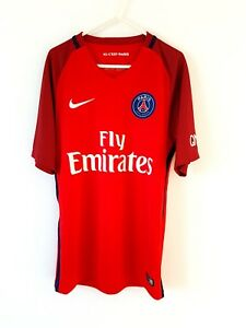 PSG Away Shirt 2016. Small Adults. Nike. Red Adults Football Top ... f9d3bbed6
