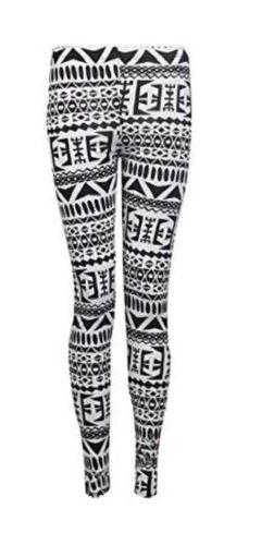Womens Animal Aztec Skull Print Full Long Pants Ladies Stretch Leggings