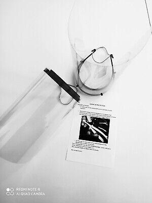 Visière de protection vendu par lot de 4. anti postillons anti gouttelettes