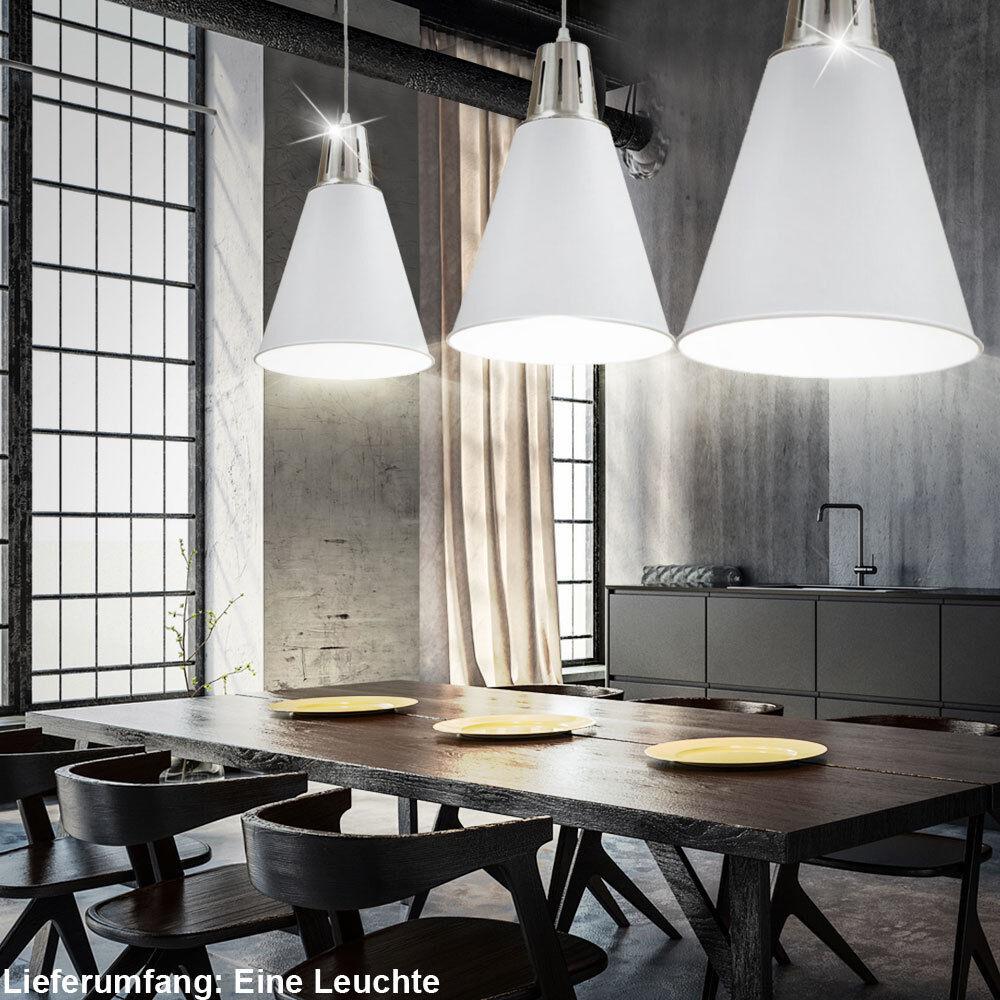Design Hänge Lampe Wohn Zimmer Decken Strahler weiß Pendel Beleuchtung Diele
