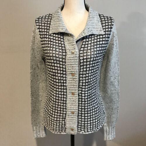 CAbi Womens Small Square Stitch Sweater Cardigan S