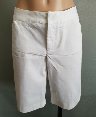 BNWT Ladies Sz 12 Mix Brand Smart White Stretch Cotton Walking Casual Shorts