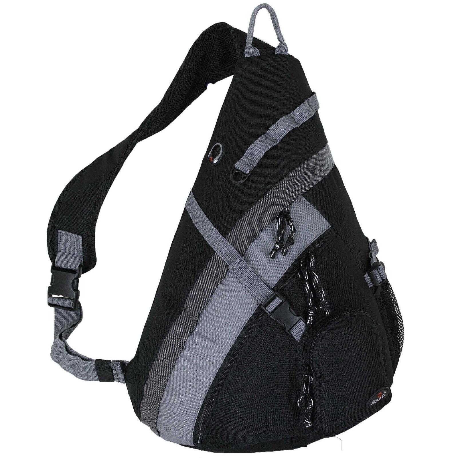 2098a978e1 HBAG 20 Sling Backpack Single Strap School Travel Sports Shoulder Bag Black  for sale online