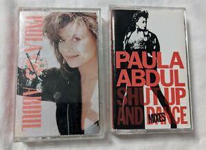 Paula-Abdul-Vintage-Cassette-Tapes-Lot-Of-2-80-s-90-s-Pop-Dance-Music