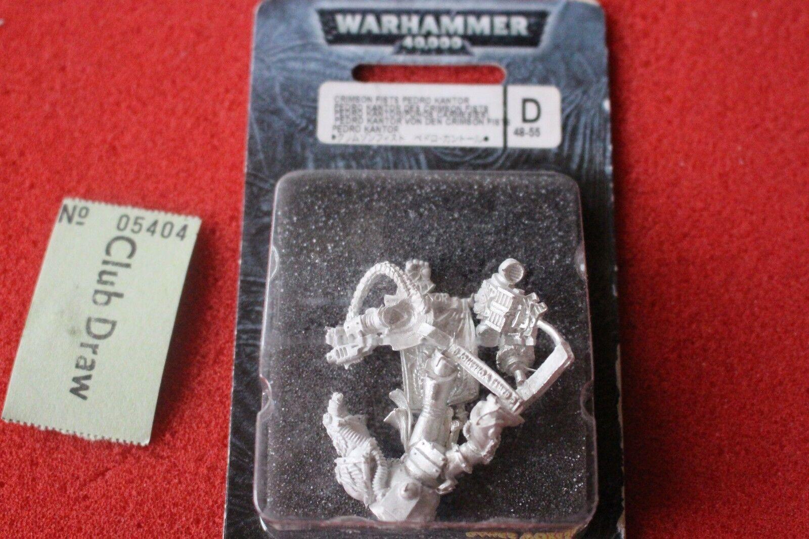 Games Workshop Warhammer 40k Crimson Fists Pedro Kantor BNIB Metal GW New Sealed