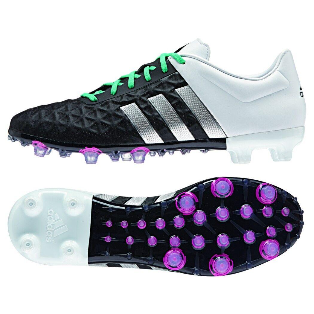 Adidas ACE 15.2 FG AG Synthetik Fußballschuhe black white silver mint [AF5183]
