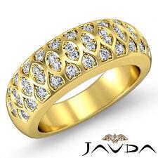 Antique Womens Half Wedding Ring Round Pave Diamond Band 18k Yellow Gold 0.51Ct