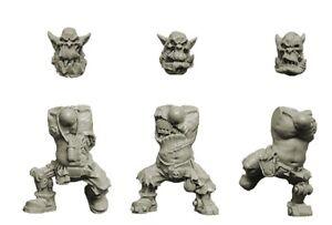 SPELLCROW 3x Corps d/'Orc avec Implants Bionique *Warhammer 40k Bitz*