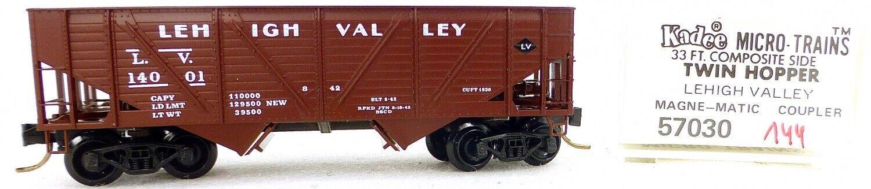 Micro Trains Line 57030 Lehigh Valley 14001 33' Twin Bay Hopper 1 160 Ovp  I144