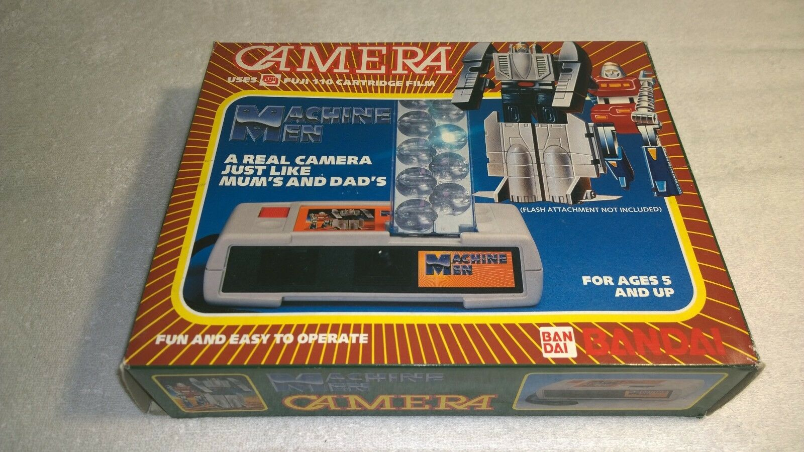 Rara retro 1984 robots GoBot Caja Honey mayx Award Camara