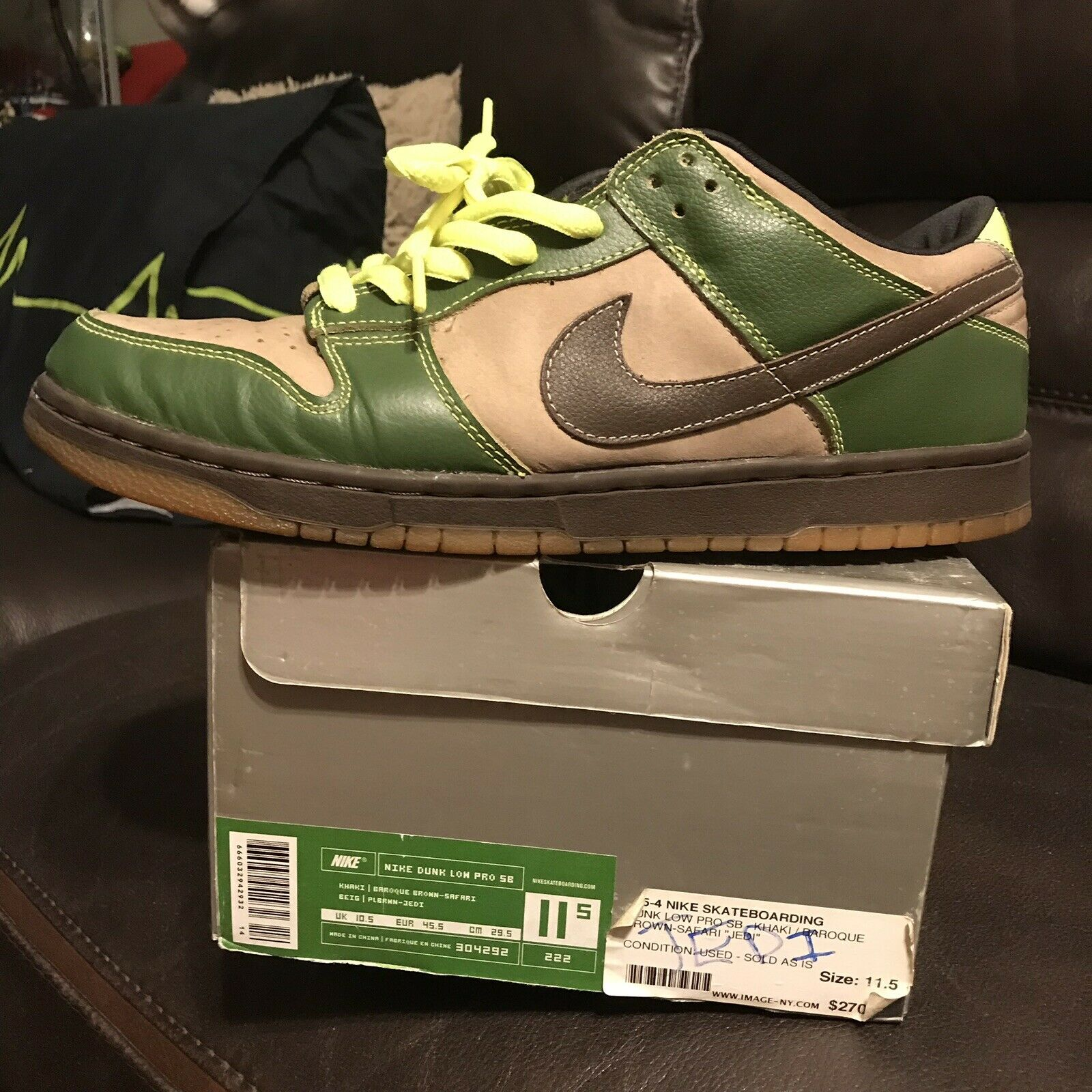 Nike Dunk Low Pro SB Jedi Size 11 (304292-22) Lightly used, with box, 2004