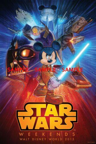 "T2 - B2G1F 11/"" X 16.5/"" Collector/'s Poster Print DisneyWorld StarWars Weekends"
