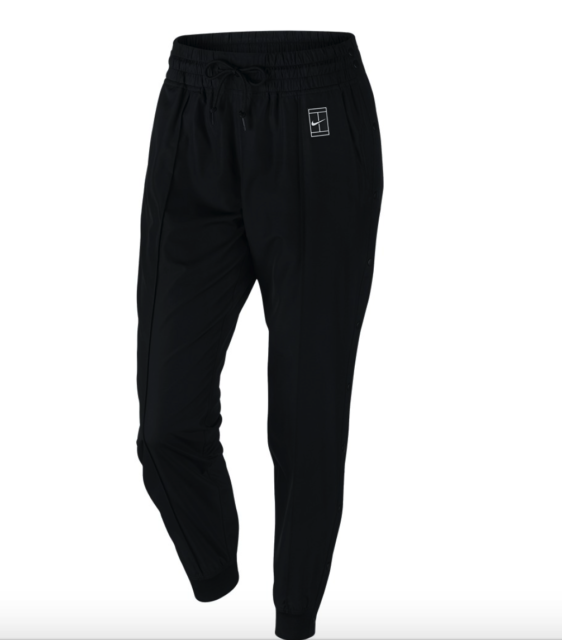 ed8daa27dc04 Nike NikeCourt Women s Woven Warm Up Tennis Pants - Size Medium Black  802602 010