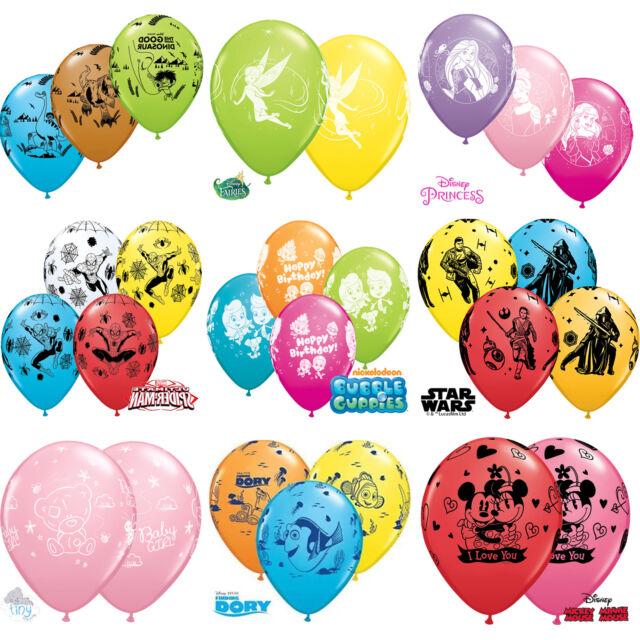 Disney Lizenzierte Charakter 27.9cm Latex Ballons X 5 {Qualatex} (Geburtstag /