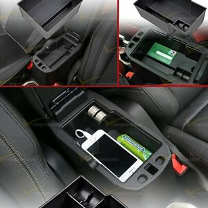 Center Console Armrest Storage Secondary Tray Box For 2015