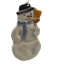 Snowman-Ornament-by-Pat-Warthen-Hand-Painted-Signed-Dated-2001-Ohio-Artist-Made thumbnail 1