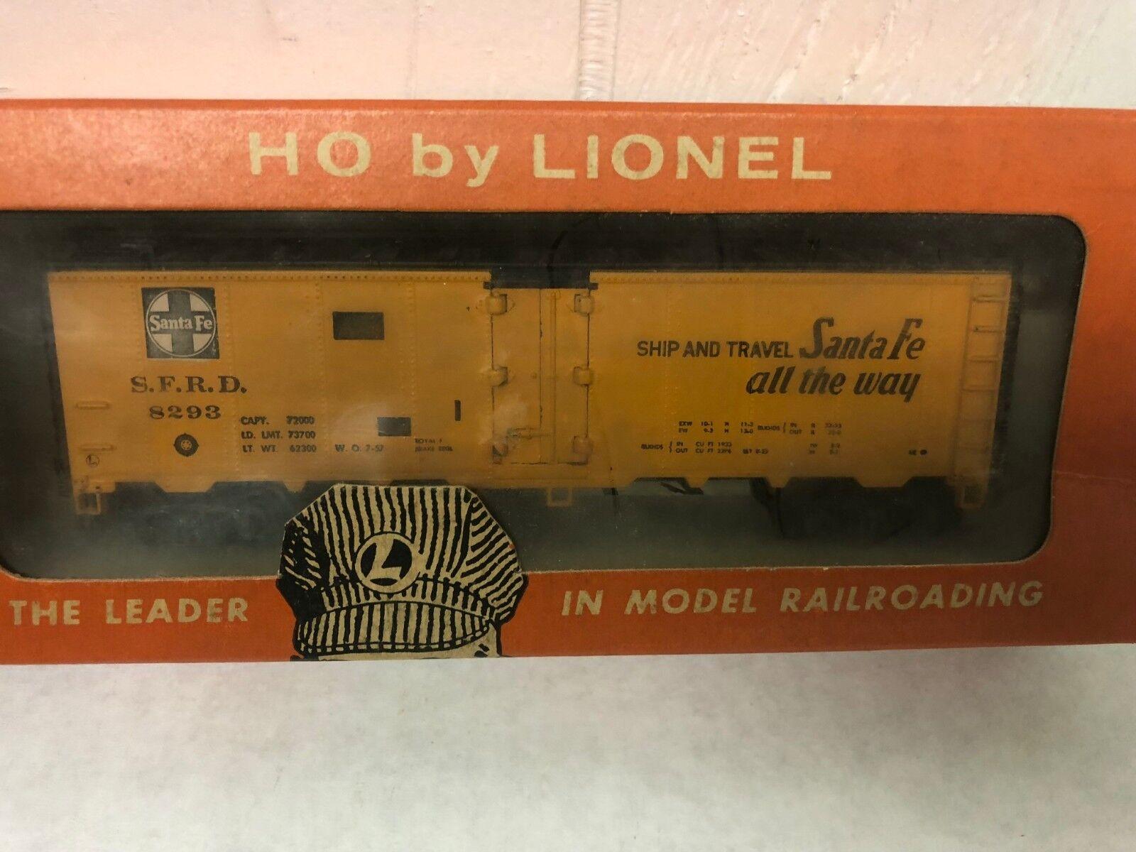 Lionel HO Scale Train Car 0872-50 Santa Fe Box Vintage Original Box