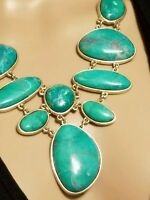 Glow Sheila Fajl 18k Over Brass Turquoise Howlite Exquisite Necklace Rare $649