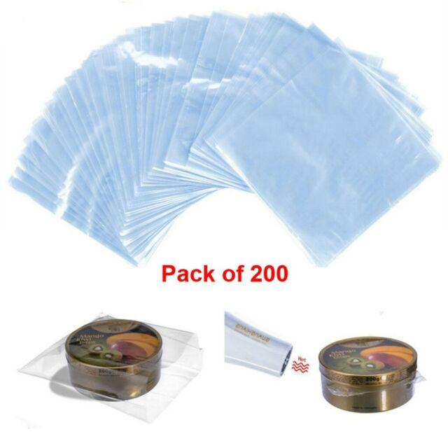 200X DIY Shrink Wrap Bags Waterproof Heat Bag Soaps Bath Bombs Crafts Seal Film