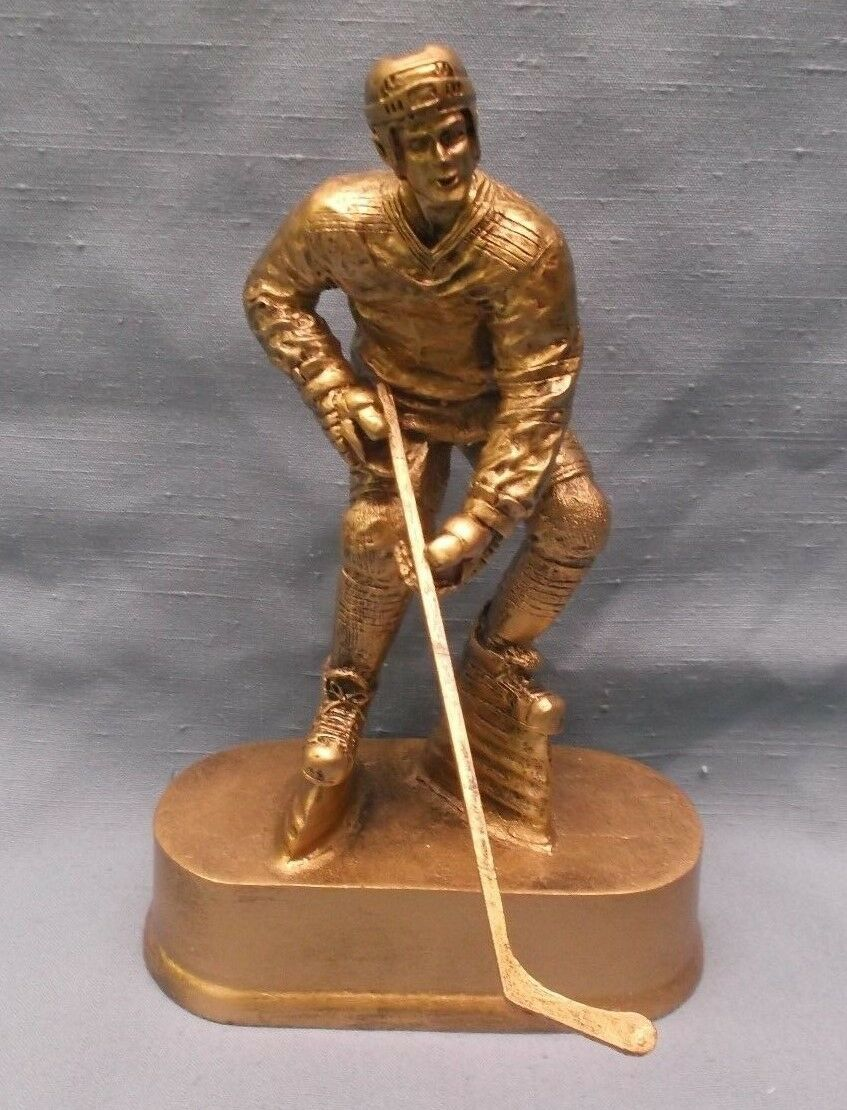Equipo Lote Of 11 Masculino Hockey Trofeos Estatua Resina Premio oro Oval Base