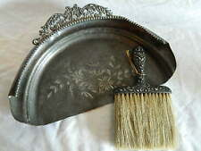 Britanna Metal Co crumb dust pan & Sterling Silver broom brush silent butler