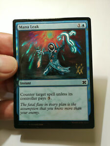 Foil Mana Leak Jace Beleren Magic Altered Art Hand Paint By Demian
