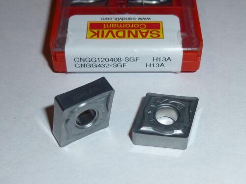 CNGG 432 SGF H13A SANDVIK *** 10 INSERTS *** FACTORY PACK ***