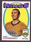 1971 Topps Ross Lonsberry #121 Hockey Card