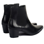 Mens-Chelsea-Boots-Leather-Formal-Pointed-Toe-Block-Mid-Heel-Shoes-Ankle-Booties thumbnail 6